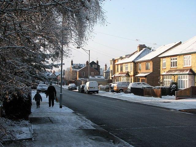 A winter morning in Coleridge Road