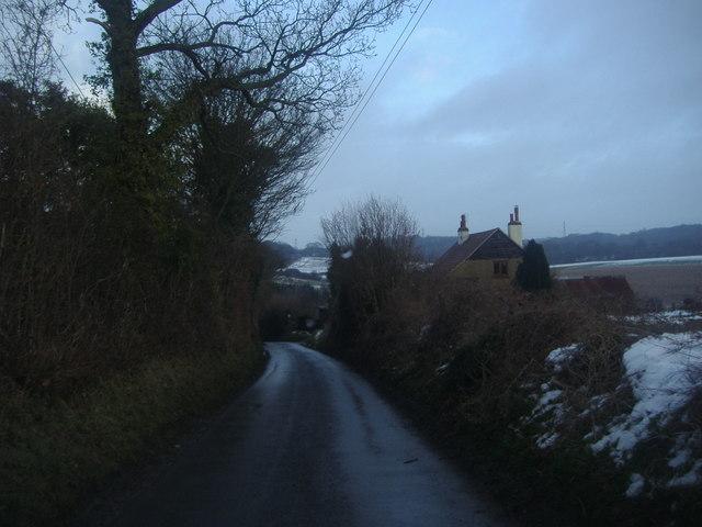 Skeet Hill Lane overlooking Cookham farm