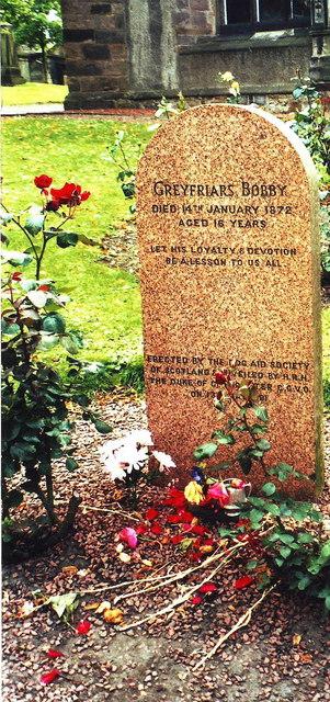 Grave of Greyfriars Bobby, Greyfriars Kirkyard, Edinburgh