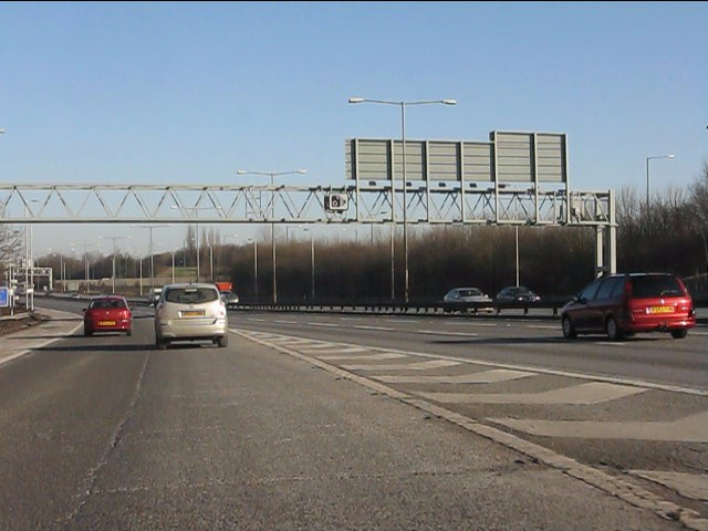 M6 motorway - joining at junction 5