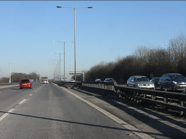 M6 motorway - straight near Parkhill Wood