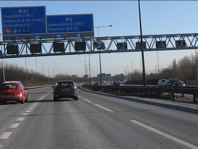 M6 approaching junction 4a southbound