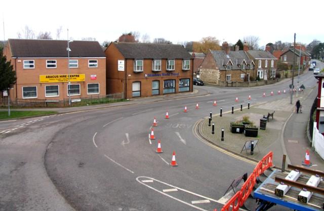 Rail Action at Oakham 08:Bollards on Barkeythorpe Road