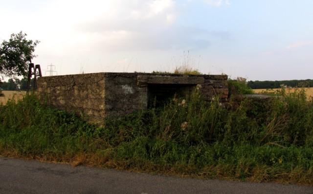 Pillbox at former RAF Sawbridgeworth on Parsonage Lane