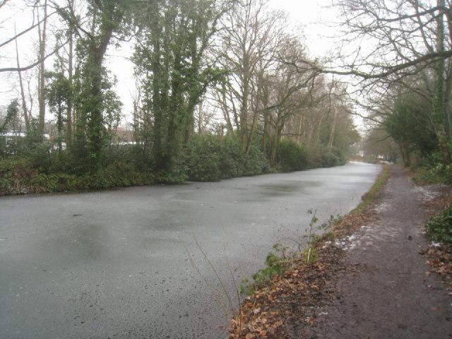Basingstoke Canal passing Heatherside Schools