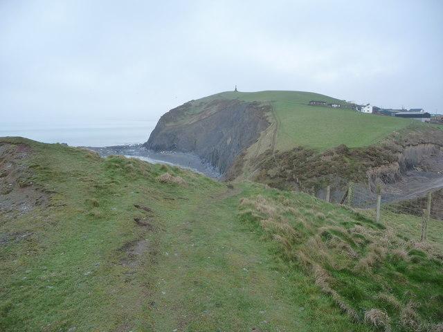 Part of the coast south of Borth