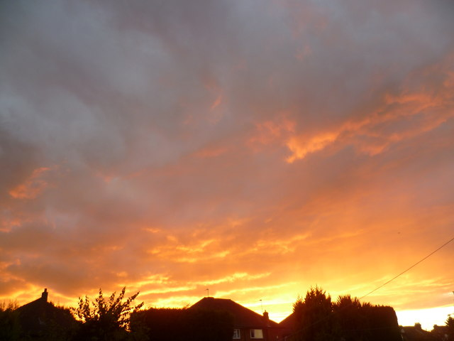 Dramatic sunset over Welling