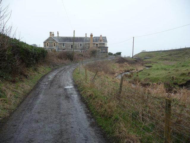 The rear of Wallog House