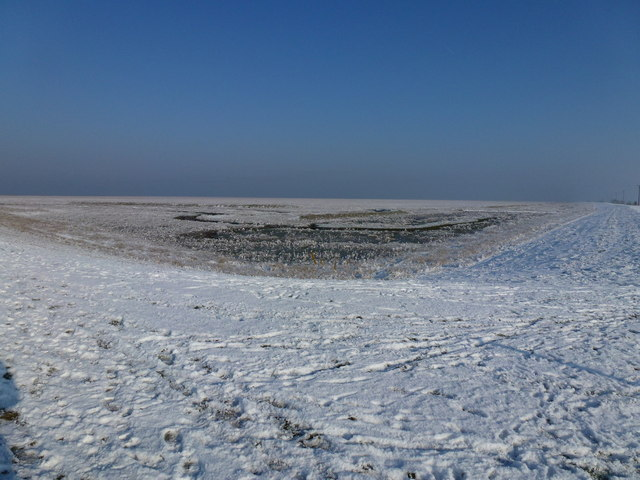 The Wash coast in winter - A white paradise