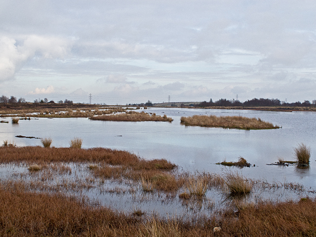 Flooded peat workings at Gardrum Moss