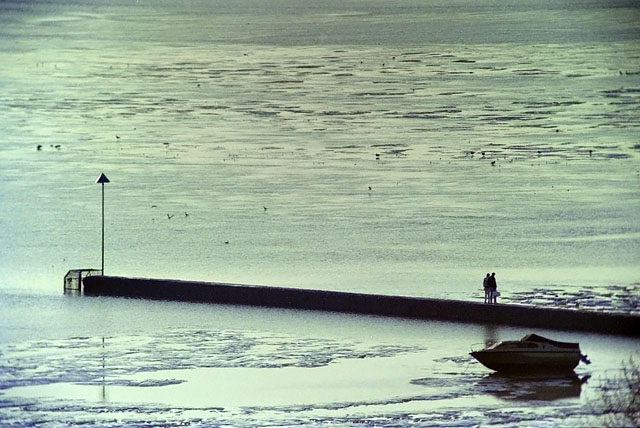 Walking on the outfall, 1989