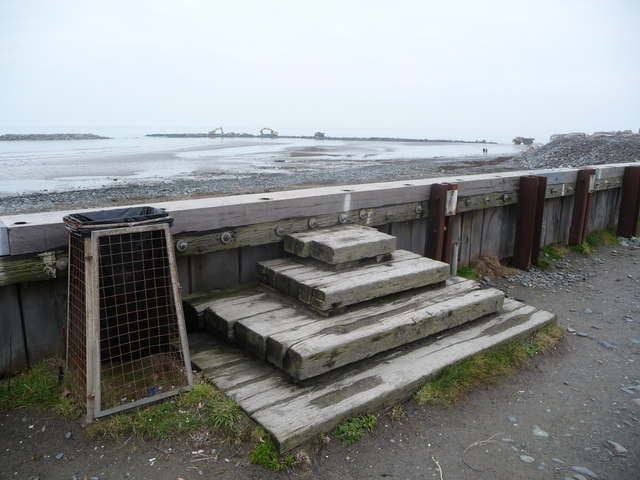 Offshore coastal defence works at Borth