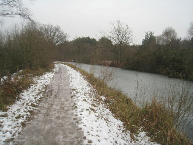 Icy towpath (Basingstoke Canal)