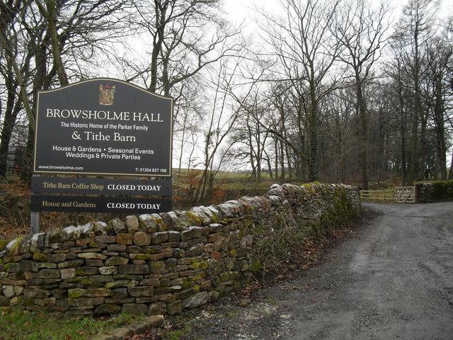 Entrance to Browsholme Hall