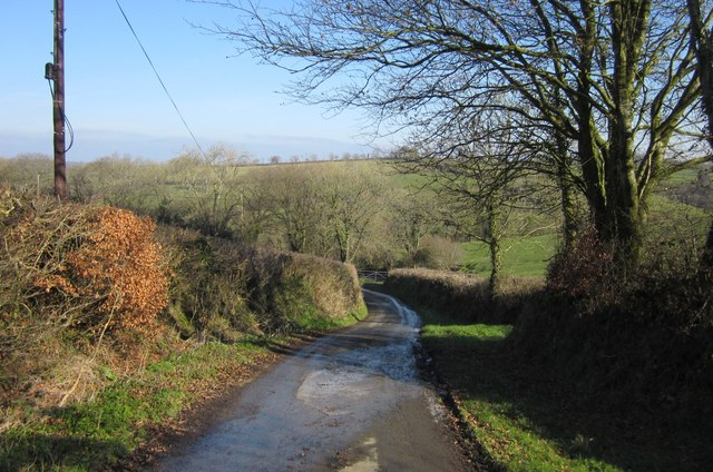 Lane to Upcott Mill
