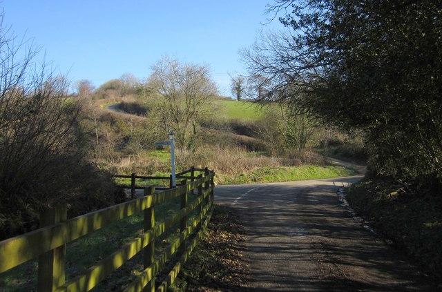 Lane junction, Upcott Mill