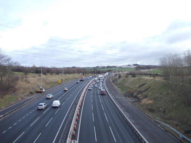M62 Eastbound - viewed from Hunsworth Lane