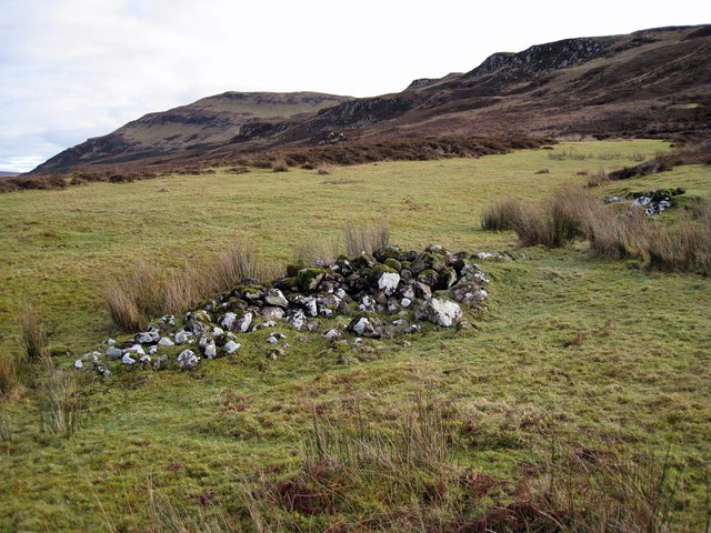Clearance cairn in Glen Bracadale