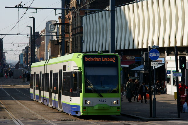 Tram in George Street, Croydon