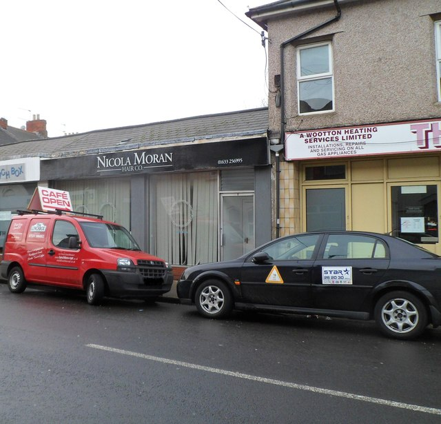 Nicola Moran Hair Co and two business vehicles, Newport