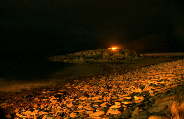 The Taing, Norwick, on the night of Norwick Up Helly Aa