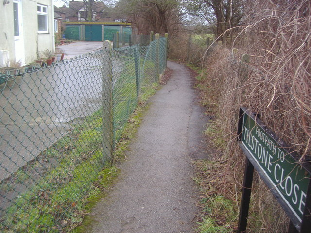 Footpath to Tilstone Close