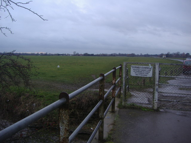 The entrance to Dorney Common