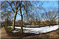 TQ2882 : Path junction on a wintry day, Regent's Park London by Ruth Sharville