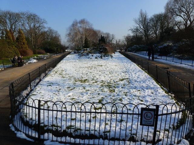 The paths divide, Regent's Park, London