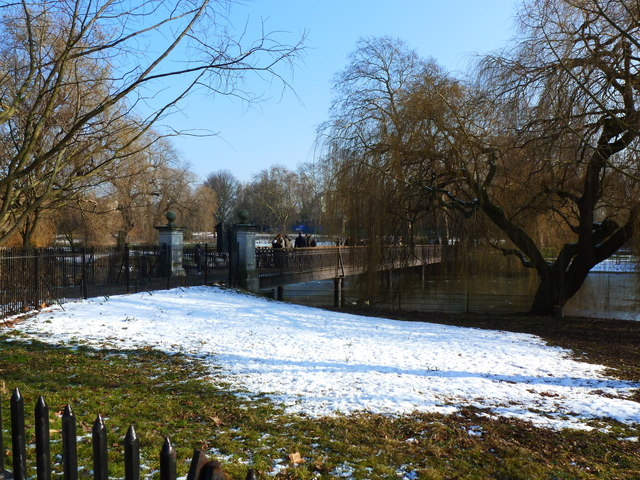 Bridge over the Boating Lake, Regent's Park, London