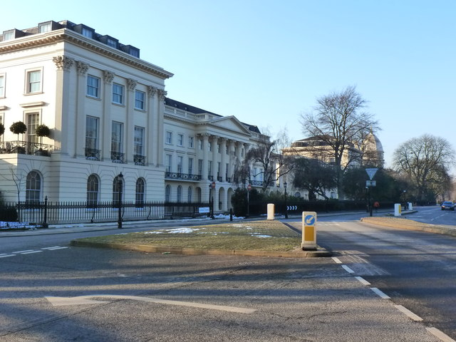 The Classical architecture of Clarence Terrace, Marylebone, London