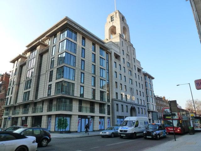 Apartment block with a 1930s facade, Baker Street, London