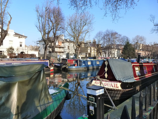 Regent's Canal on a winter's day, Paddington. London