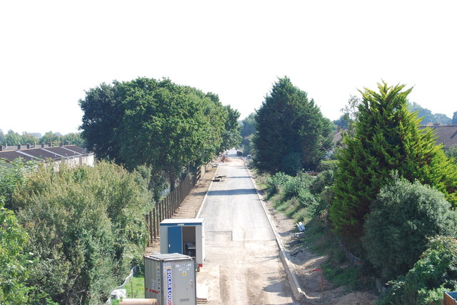 Fareham to Gosport BRT - View from Gregson Avenue Bridge (32)