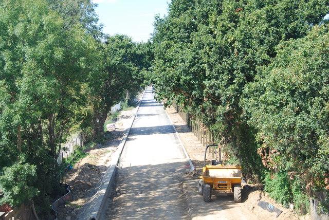 Fareham to Gosport BRT - View from Gregson Avenue Bridge (33)