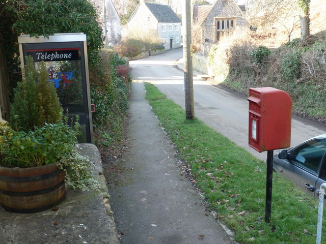 Sandford Orcas: postbox № DT9 43 and phone