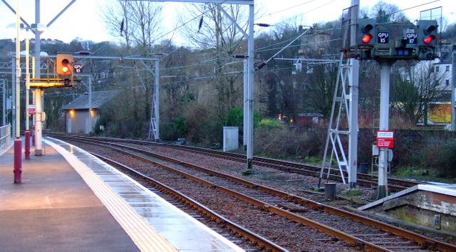 Signals at Gourock railway station