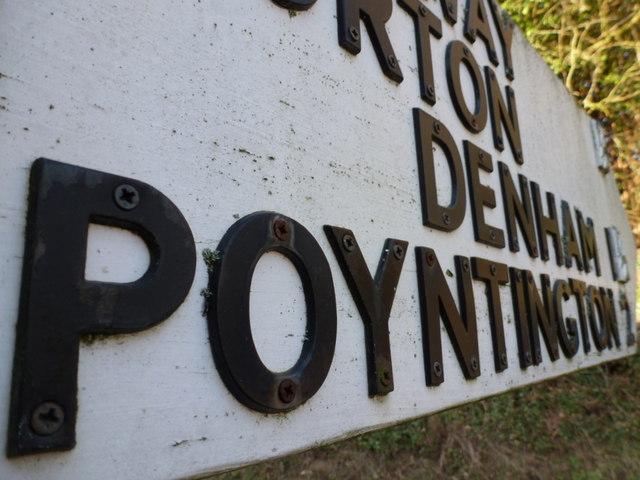 Sandford: pointing to Poyntington