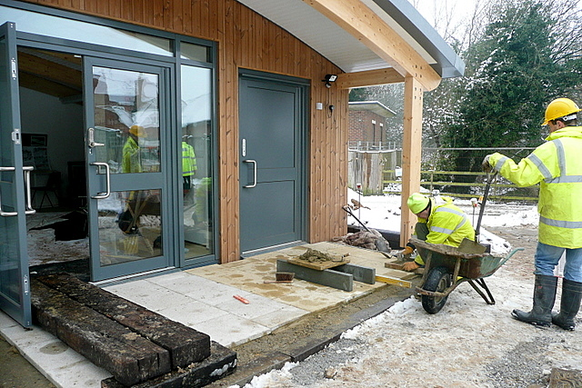 Getting the visitor centre ready