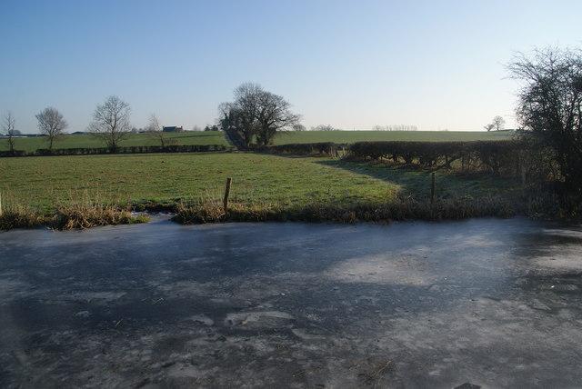 Frozen canal near Ivy House Farm