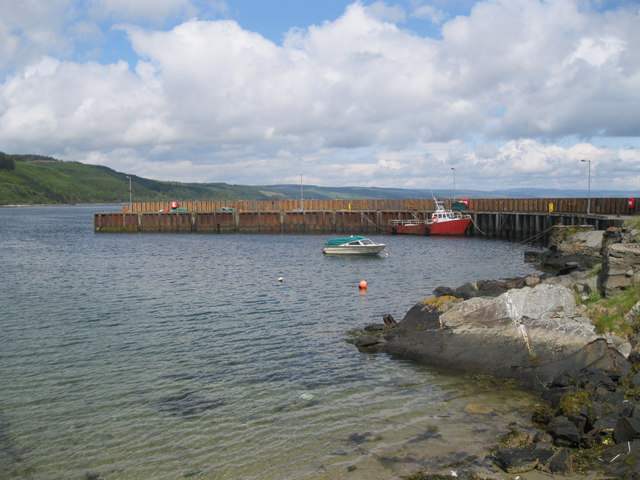 Carradale pier and harbour