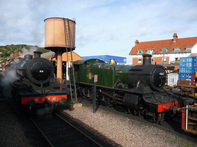 Minehead - Engines And Water Tower