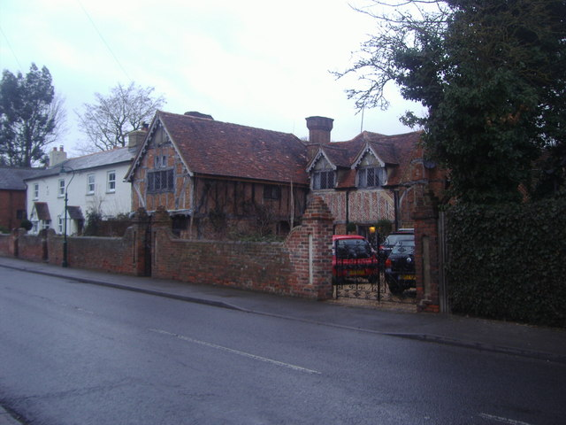 Tudor house on Village Road, Dorney
