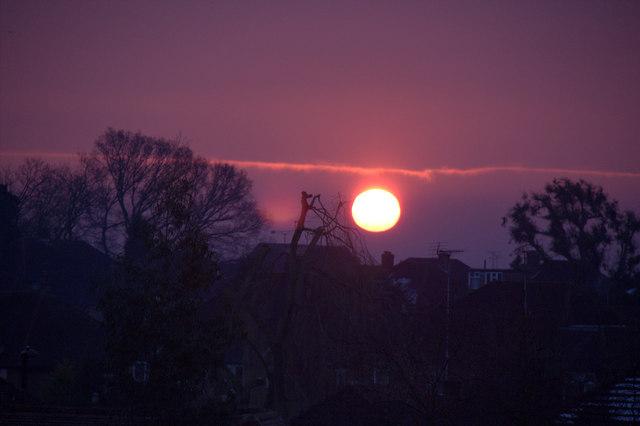 Sunrise, London N14