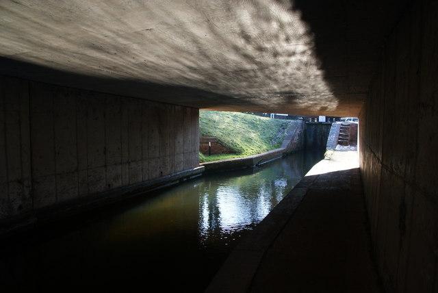 Reflections on the underside of Shutthill Bridge