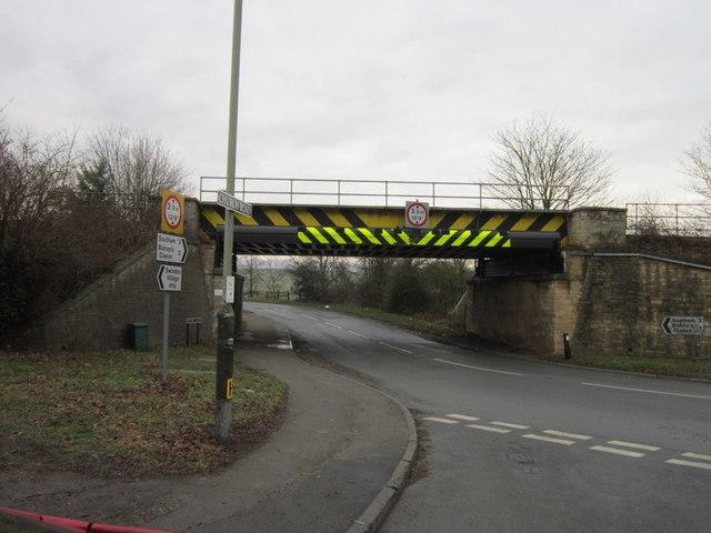 The rail bridge on Hyde Lane, Swindon