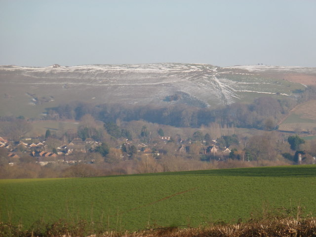 Hambledon Hill: a distant view on a wintry day