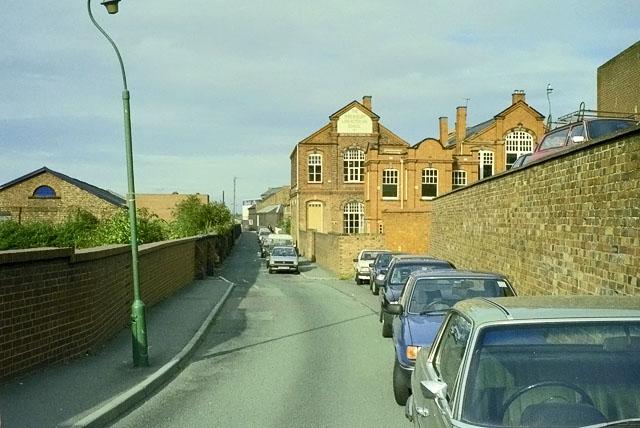 Beacall's Lane and Shrewsbury Lancasterian School, 1990