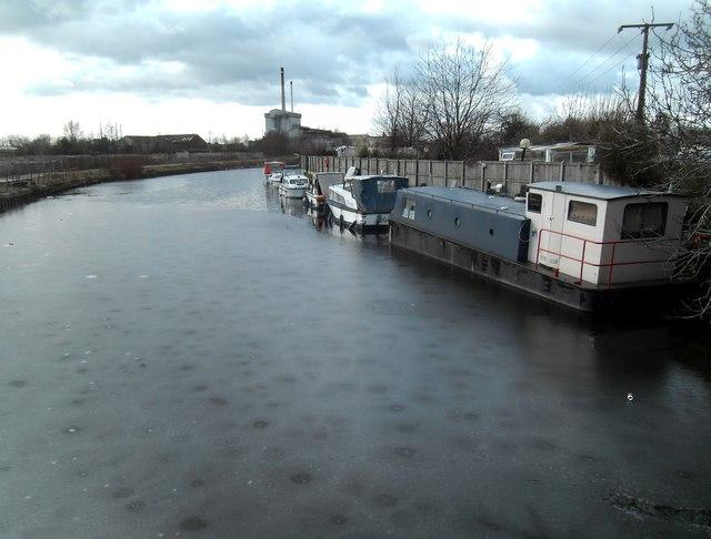 Iced up Canal at Knottingley