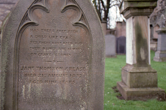 Gravestone, Kelso Abbey churchyard
